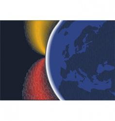 Digital planet europe vector