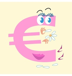 Euro sign national currency europe vector