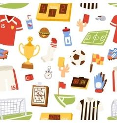Euro soccer seamless pattern vector