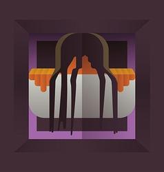 Fearful halloween character vector