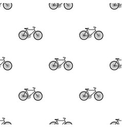 Green bicycle icon in black style isolated on vector