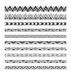 hand drawn design elements pattern brushes vector image vector image