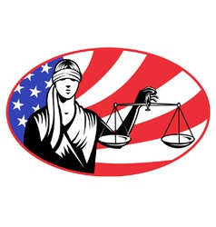 lady holding justice scales vector image vector image