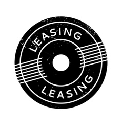 Leasing rubber stamp vector