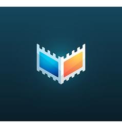 Logotype for cinema company vector