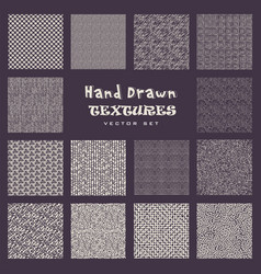 set of hand drawn marker and ink patterns vector image vector image