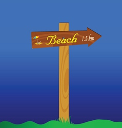 Signboard for the beach vector