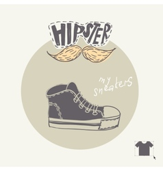 Sneakers Fashion Background vector image