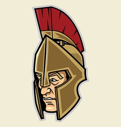 Spartan head vector
