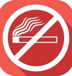 Stop smoking sign icon vector