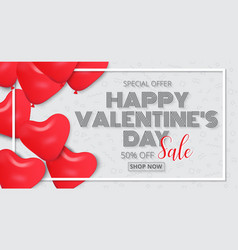 valentines day poster design sale promotion vector image vector image
