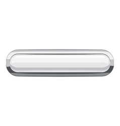 White rectangular button icon cartoon style vector