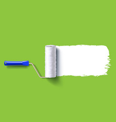 white roller brush vector image vector image