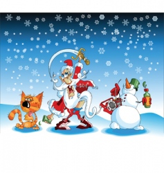 xmas cartoons vector image
