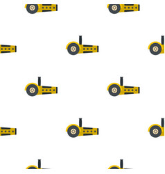 Yellow circular saw pattern flat vector