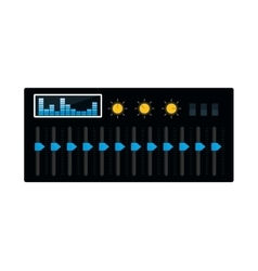 Equalizer music sound dj icon graphic vector