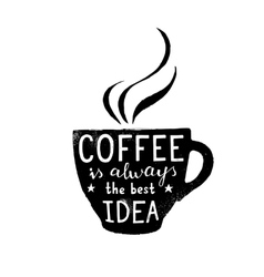 coffee cup with lettering vector image
