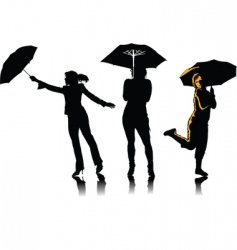 woman with umbrella vector image