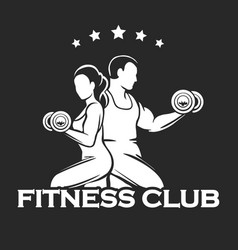 Athletic or fitness club emblem vector