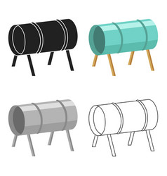 Playground tunnel icon in cartoon style isolated vector