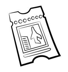 cartoon image of ticket vector image