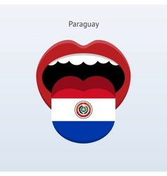 Paraguay language abstract human tongue vector