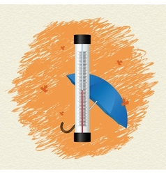 Thermometer by seasons Autumn vector image