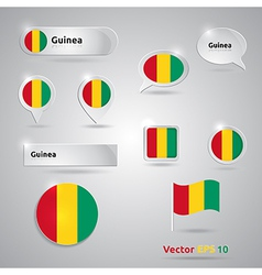 Guinea icon set of flags vector
