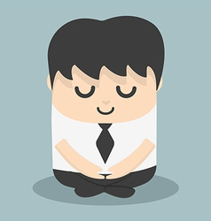 Calm businessman meditating vector