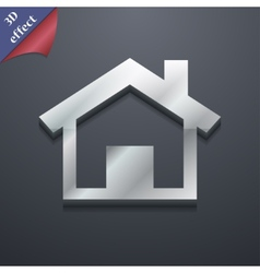 Home icon symbol 3d style trendy modern design vector