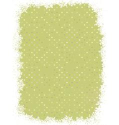 green polka dot design with snowflakes eps 8 vector image