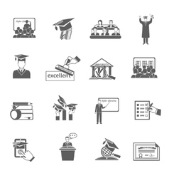 Higher education icon black vector