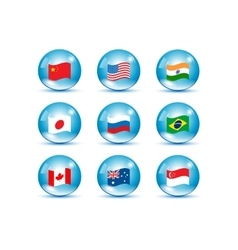 World countries flags set vector