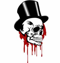 Skull and hat vector