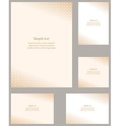 Orange page corner design template set vector
