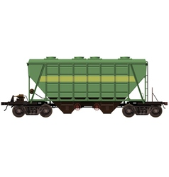 Green wagon for bulk products vector