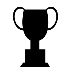 Black trophy icon front view graphic vector