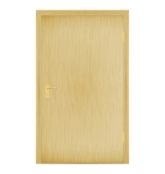 A closed wooden door vector