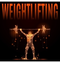 Wheightlifting poly in motion vector
