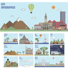 City Tourism Infographics vector image