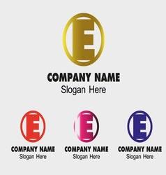 Abstract E logo design e icon vector image