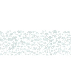 abstract gray bush leaves textile horizontal vector image vector image