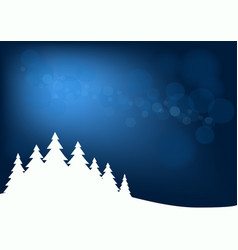 abstract winter background with fir forest vector image vector image