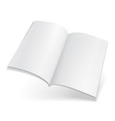 Blank flying magazine book booklet brochure vector