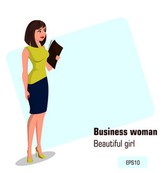 Character beautiful business woman 15 vector