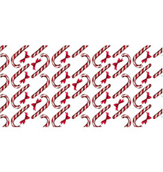 christmas pattern with candy canes vector image vector image