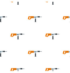 Electric drill perforator pattern flat vector
