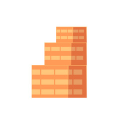 flat isometric multistoried multi-layered building vector image