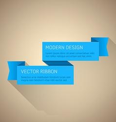 Flat Ribbon vector image vector image
