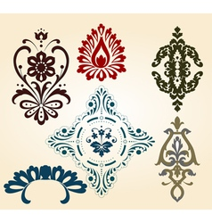 floral shapes vector image